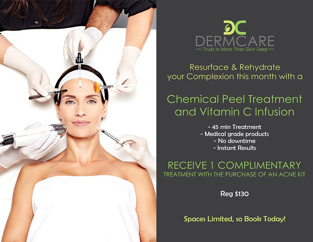 Chemical Peel Treatment and Vitamin C infusion Promotion at DermCare