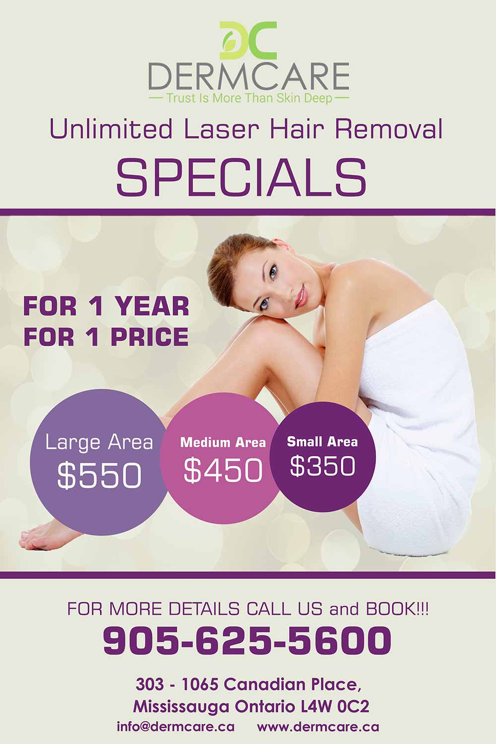 Unlimited Laser Hair Removal at DermCare