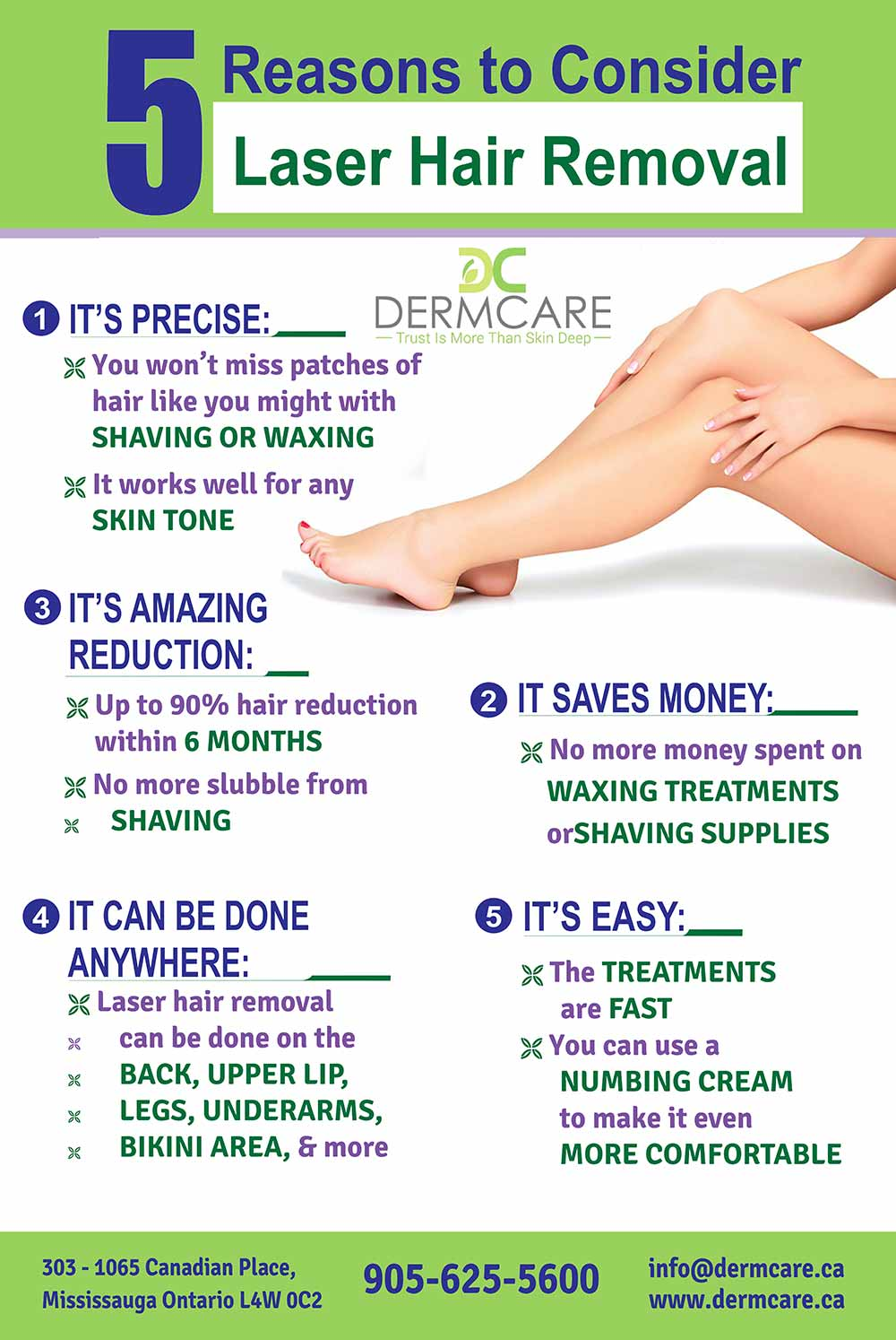 5 Reason to Consider Laser Hair Removal at DermCare